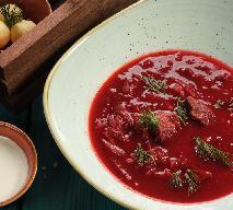 Barszcz czerwony dla smakoszy: z dziczyzną i wiśniami [PRZEPIS]