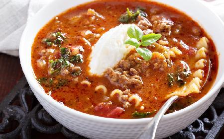 Łatwa zupa lasagna