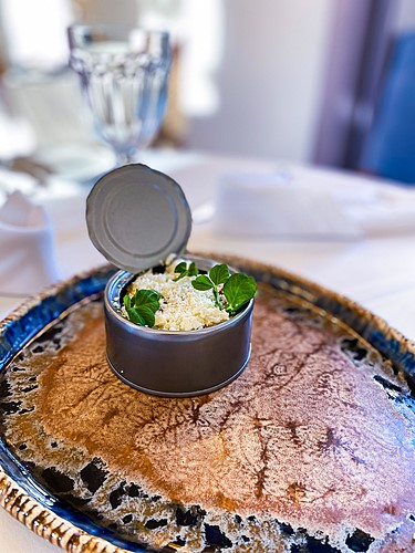 Banosz, ciepła przystawka, restauracja Kanapa