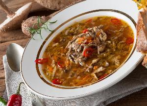 Zupa z kani  à la flaczki: przepis jak zrobić flaczki z kani