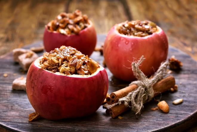 Jabłka pieczone z amarantusem - pyszny deser na ciepło